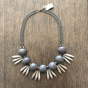 SHELLY DAHARI Jewelry art Wood and metal necklace